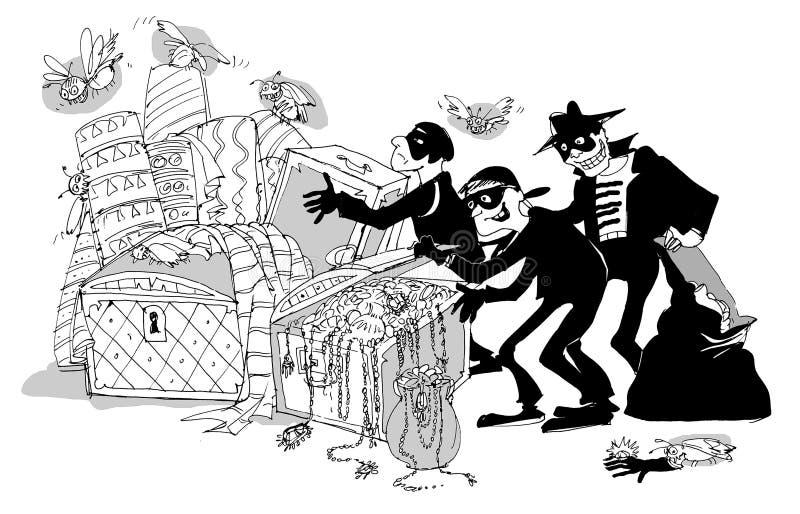 złodzieje royalty ilustracja