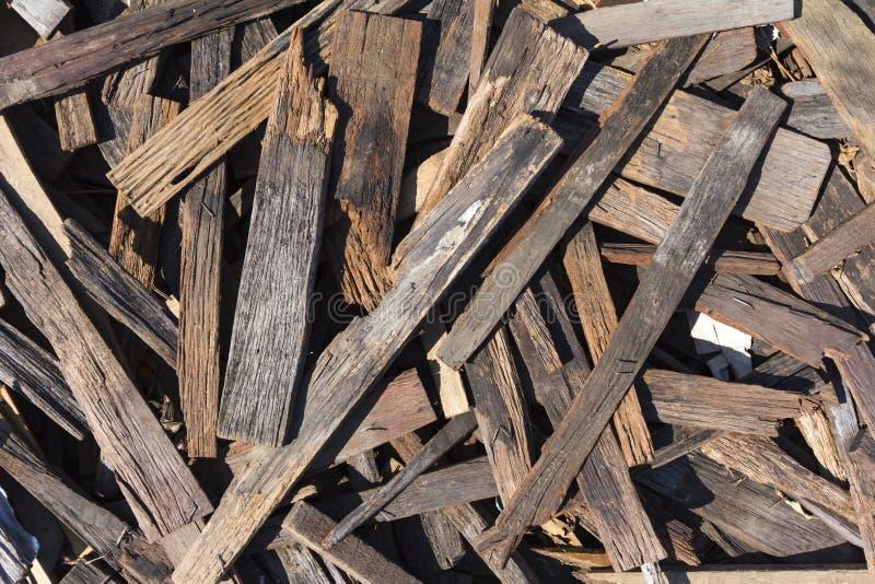 Złomowy drewno fotografia stock