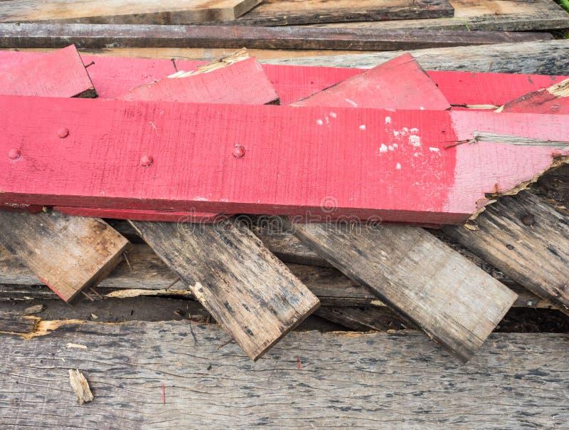 Złomowy drewno stos zdjęcie royalty free