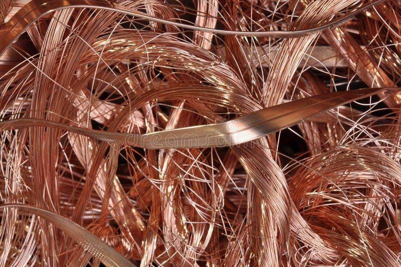 Złomowy miedziany drut obrazy stock