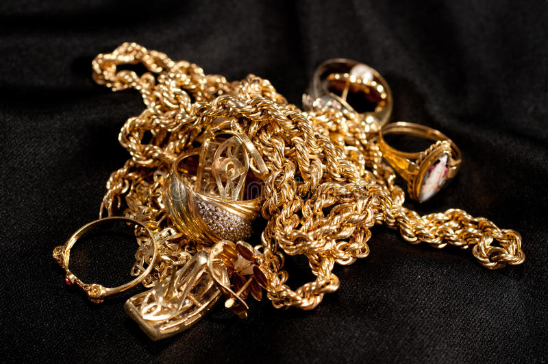 Złomowy złoto zdjęcia stock
