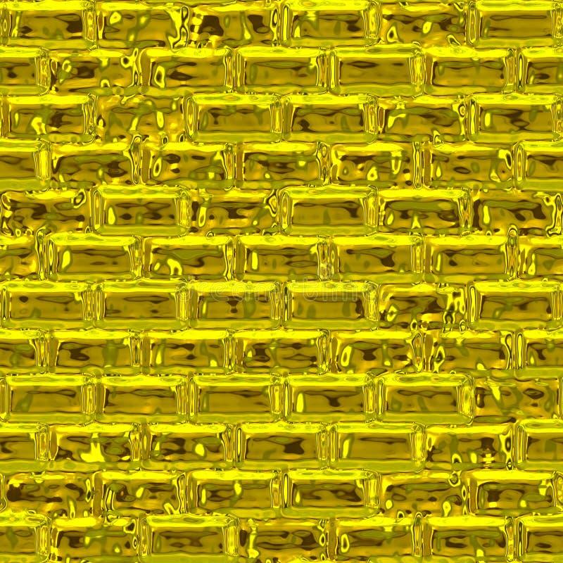 Złota ściana (Bezszwowa tekstura) zdjęcia royalty free
