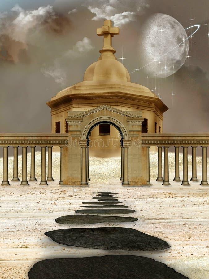 Złota świątynia royalty ilustracja