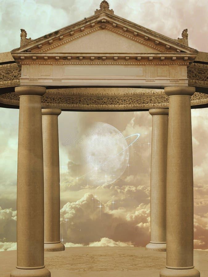 Złota świątynia ilustracja wektor