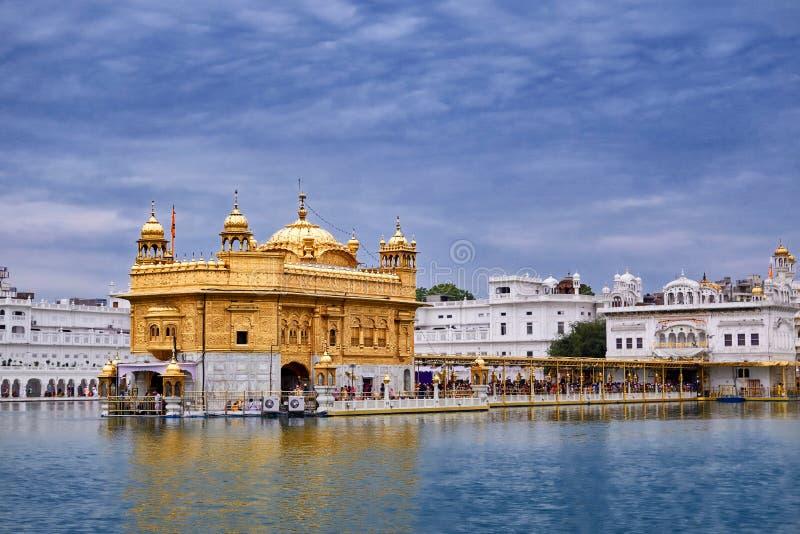 Złota świątynia w Amritsar, Pundżab, India (Harmandir sahib) zdjęcia royalty free