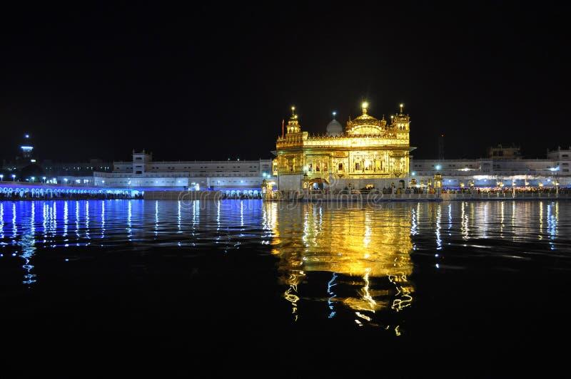 złota Amritsar świątynia fotografia stock