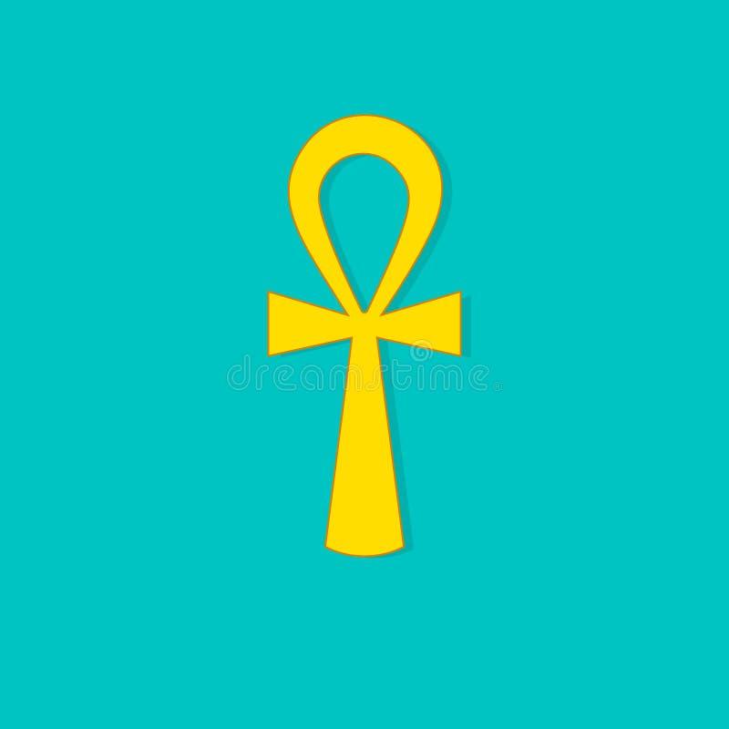Złota ankh ikona royalty ilustracja