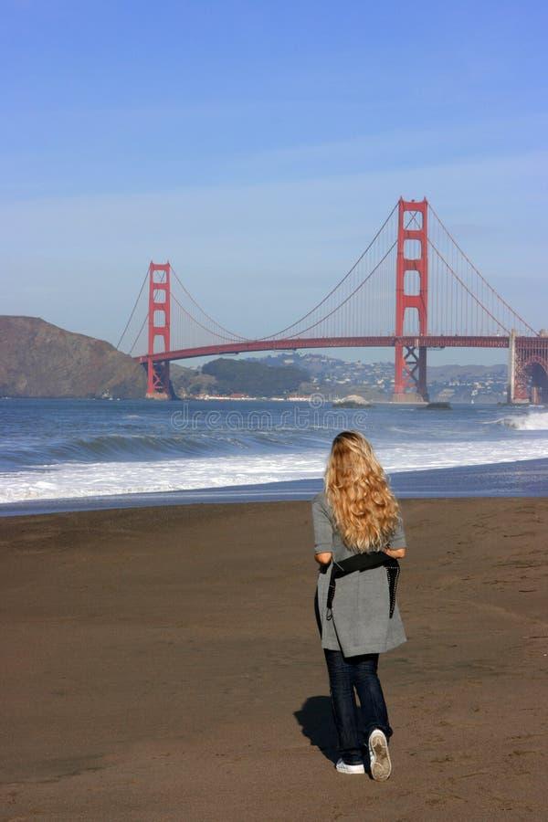 złota bridżowa brama zdjęcia stock