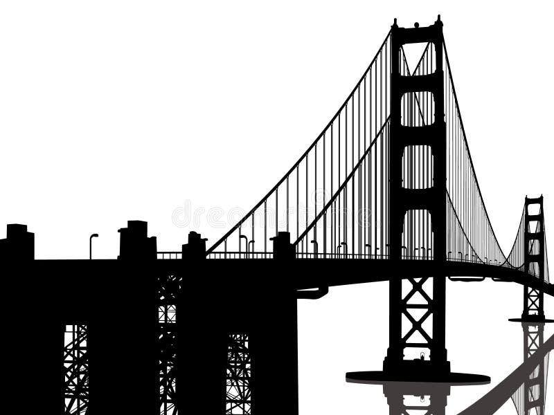 złota bridżowa brama ilustracji