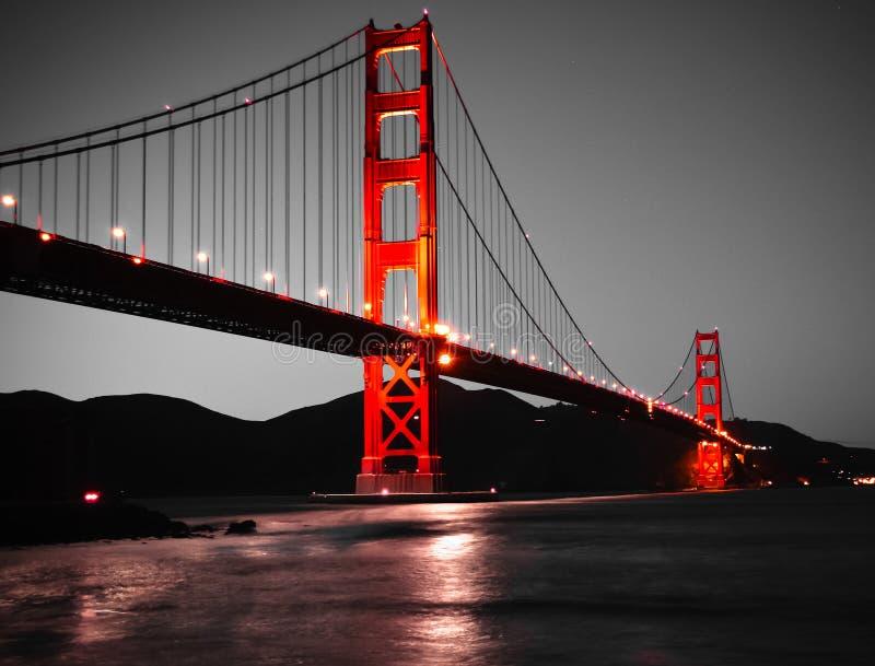 złota bridżowa brama obraz stock