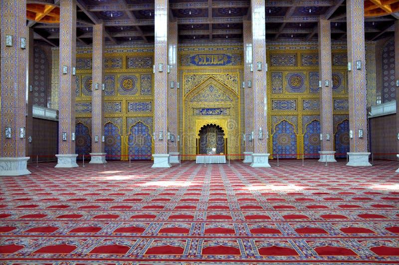 Wśrodku Złoty Ceremonialny Hall obraz stock
