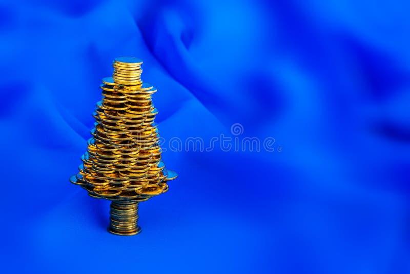 Złota choinka zdjęcie stock