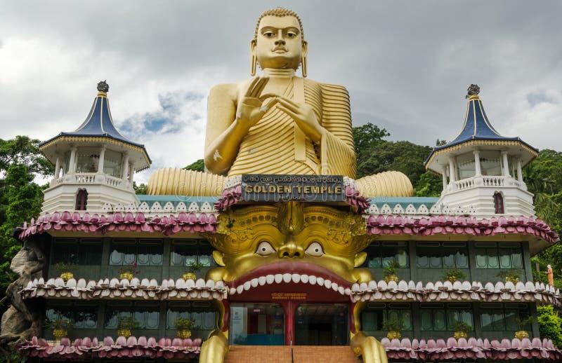 złota dambulla świątynia zdjęcie royalty free