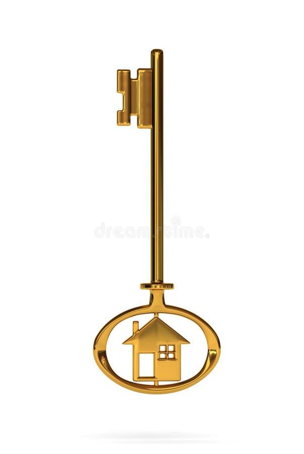 Złota domu klucz royalty ilustracja