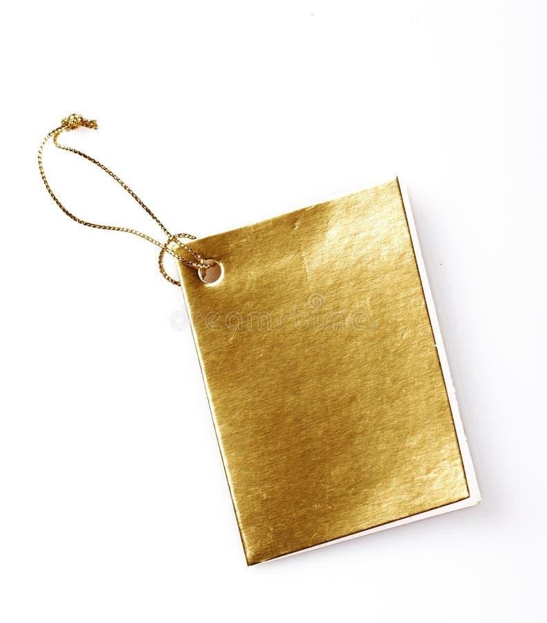 złota etykietka zdjęcia stock