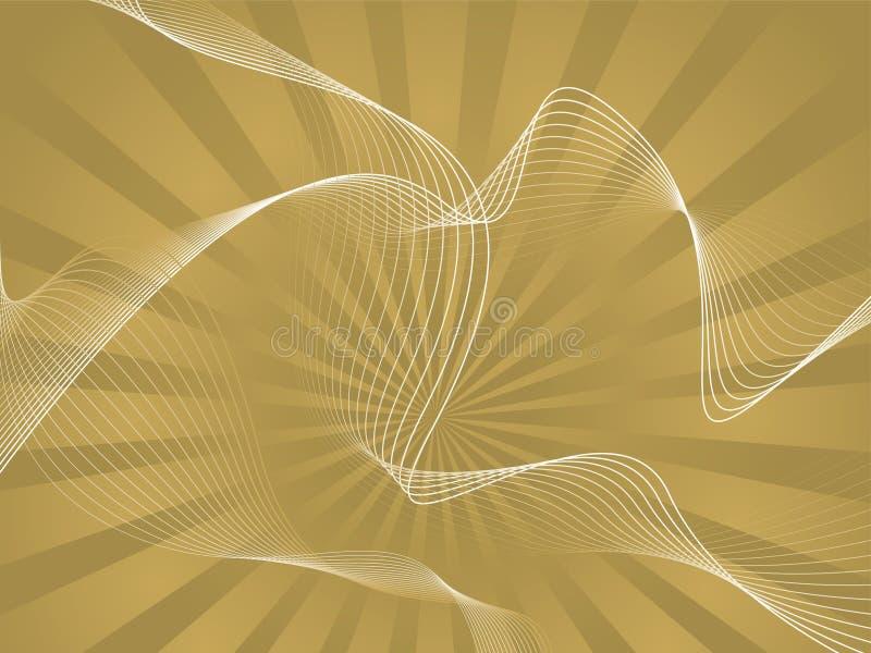 złota fale royalty ilustracja
