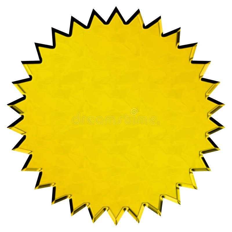 złota foka ilustracji