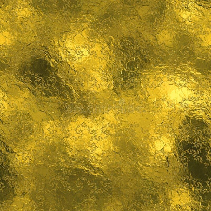 Złota Foliowa Bezszwowa i Tileable luksusowa tła tekstura Błyskotliwy wakacje marszczący złocisty tło obrazy royalty free
