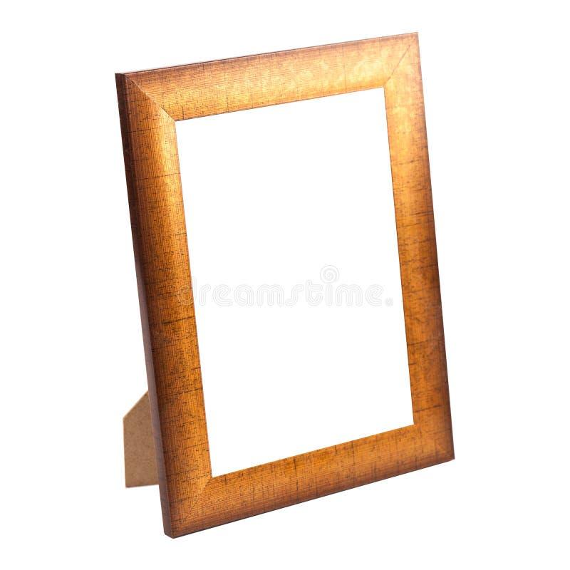 Złota fotografii rama odizolowywająca zdjęcie stock