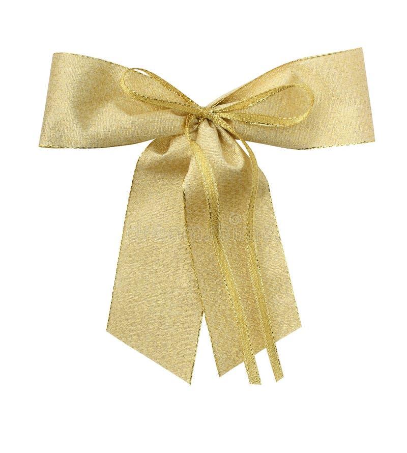 złota giftbow ścieżki zdjęcie royalty free