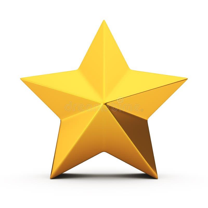 Złota gwiazda royalty ilustracja