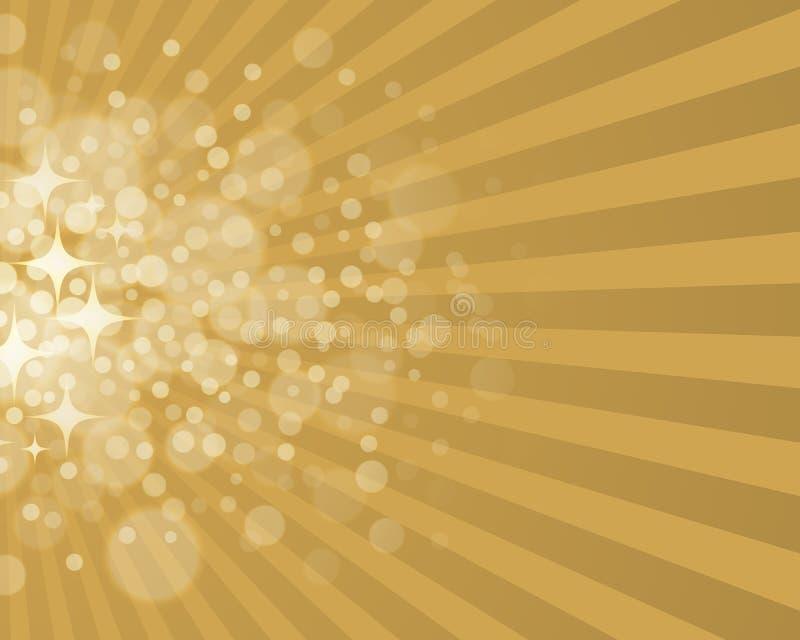 Złota Gwiazdowy tło royalty ilustracja