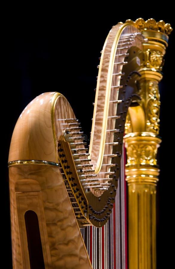 złota harfa obraz stock