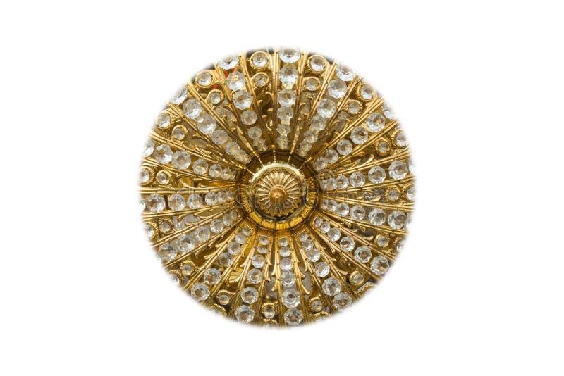 Złota i diamentów okrąg ilustracja wektor