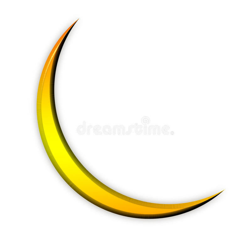 złota ikony księżyca royalty ilustracja