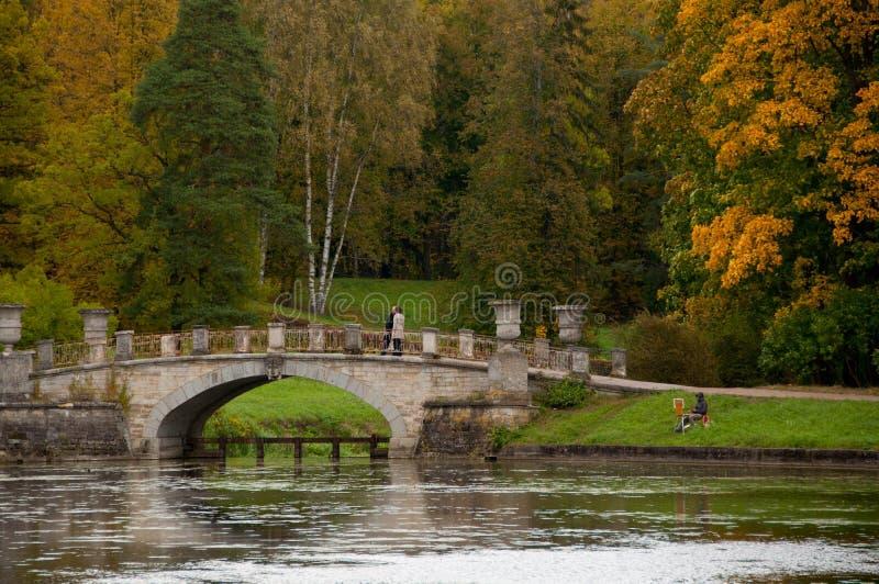 Złota jesień w Pavlovsk obrazy royalty free