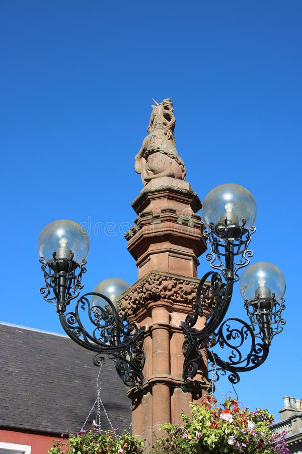 Złota jubileuszowa fontanna, Market Place, Jedburgh obrazy stock