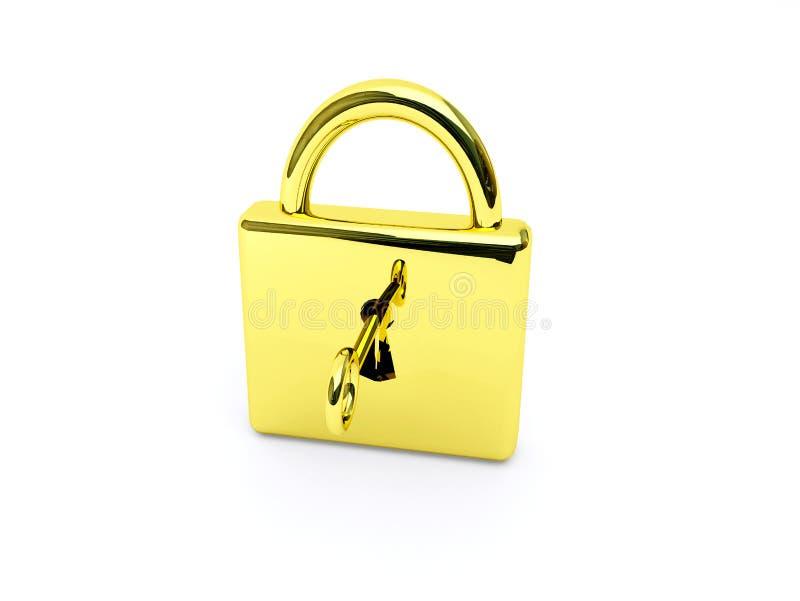 złota klucza kędziorek royalty ilustracja