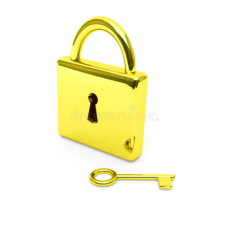 złota klucza kędziorek ilustracji