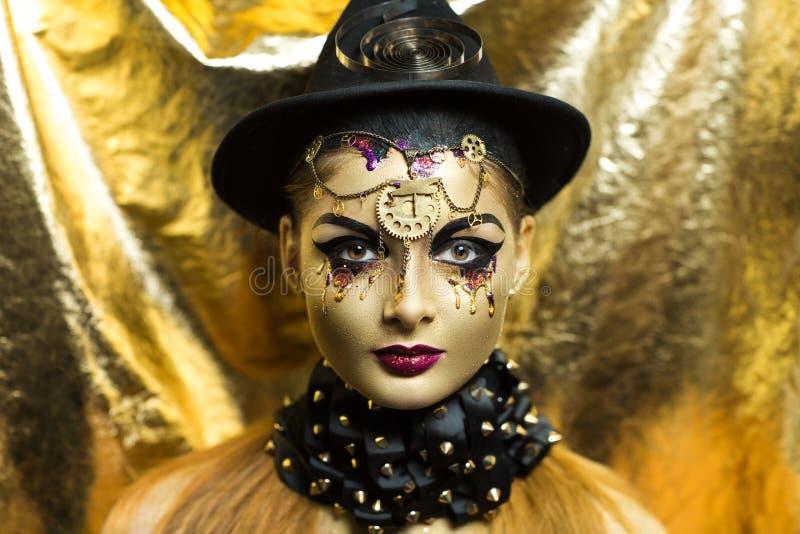 złota kobieta fotografia royalty free