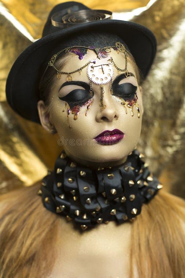 złota kobieta obrazy royalty free