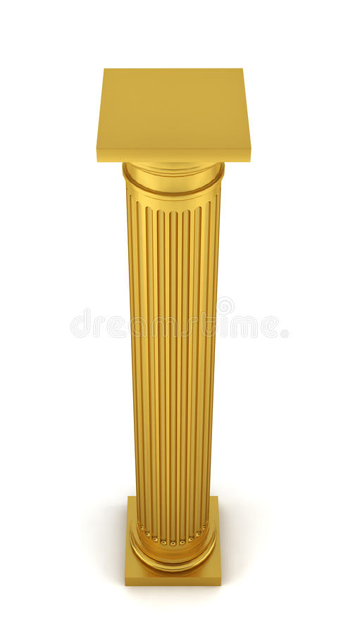 Złota kolumna royalty ilustracja