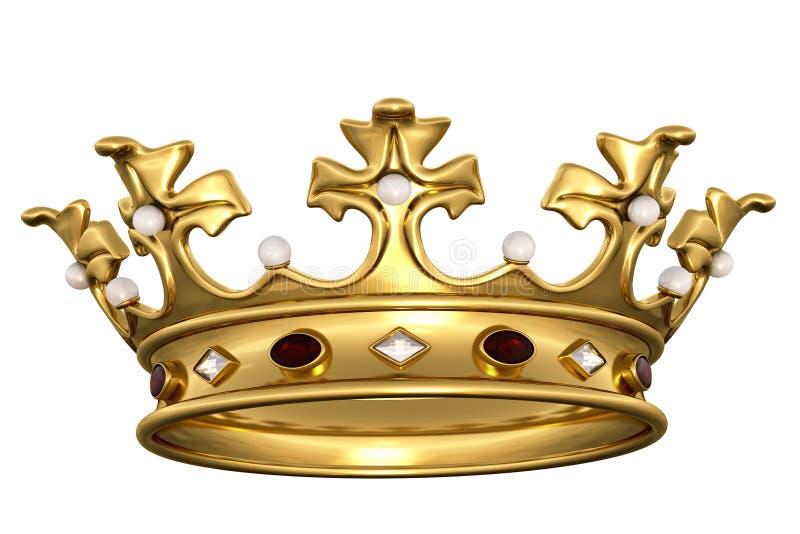 Złota korona ilustracja wektor