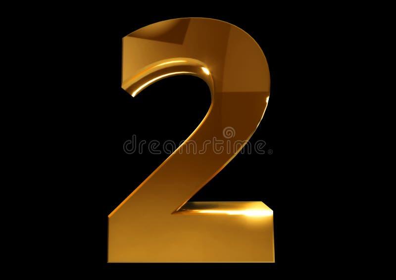 Złota liczba holownicza na czarnym odosobnionym tle ilustracji