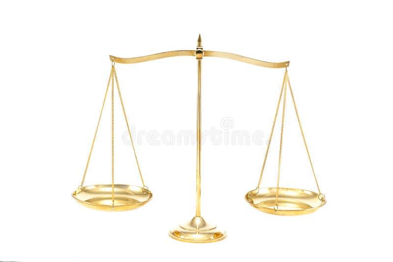 Złota mosiądz równowaga zdjęcie royalty free