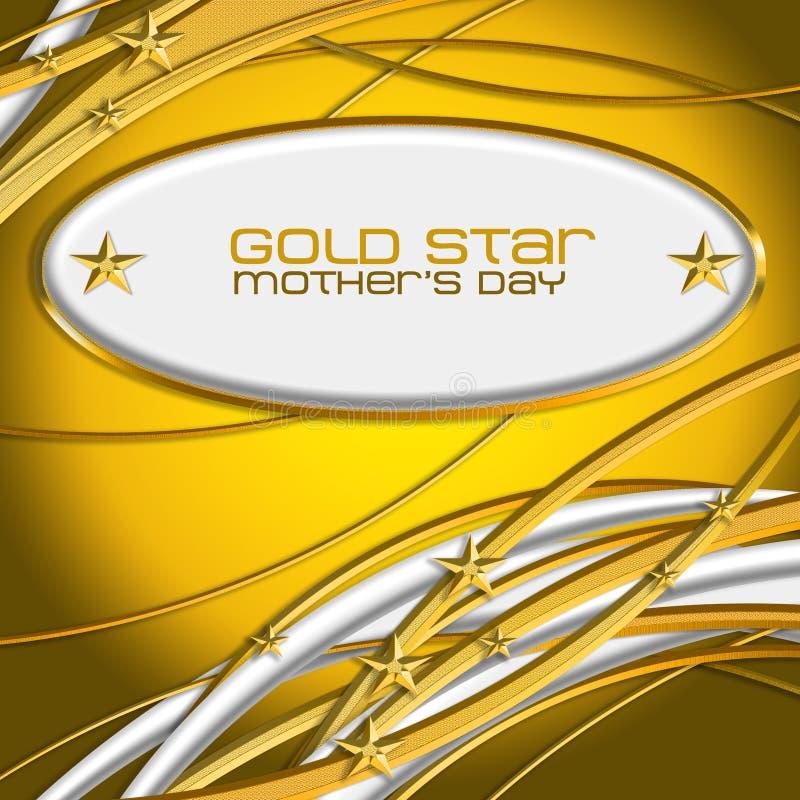Złota Mother's Gwiazdowy dzień royalty ilustracja