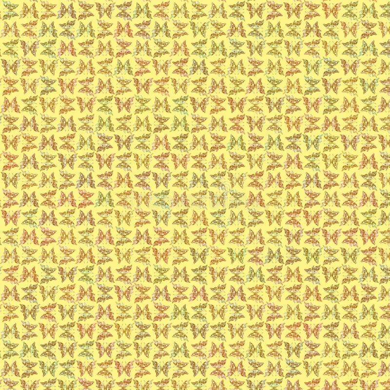 Złota motylia tekstura i tło royalty ilustracja