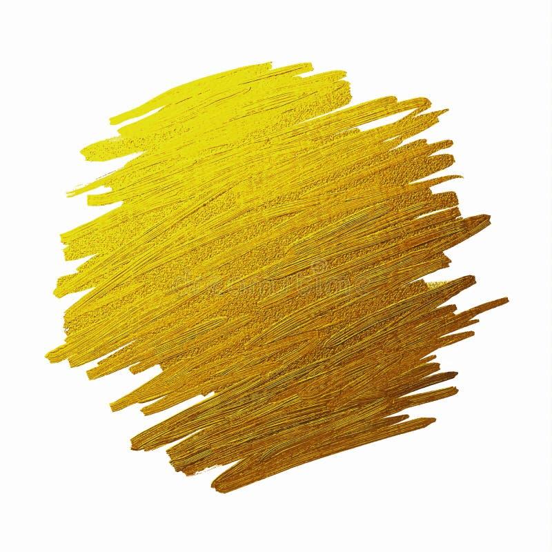 Złota muśnięcie podsyca teksturę na białej tło ilustracji ilustracji