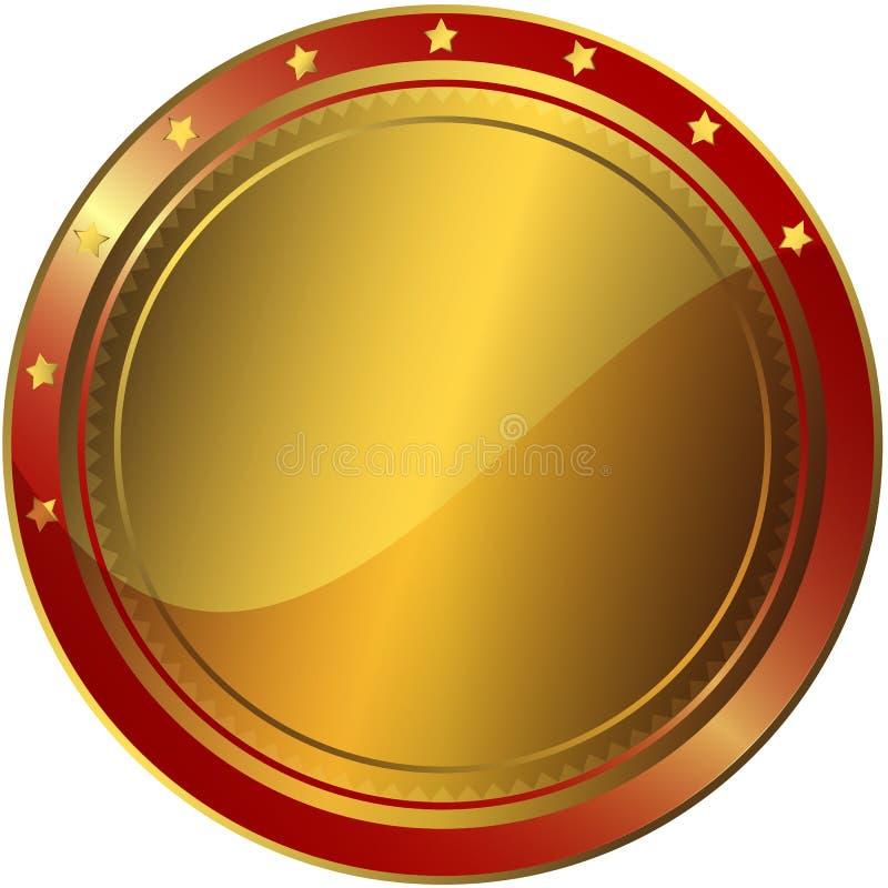 złota nagrody czerwień royalty ilustracja