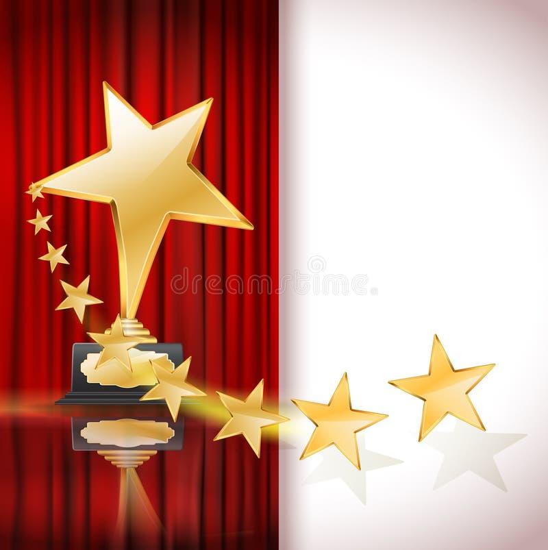 złota nagrody gwiazda ilustracji