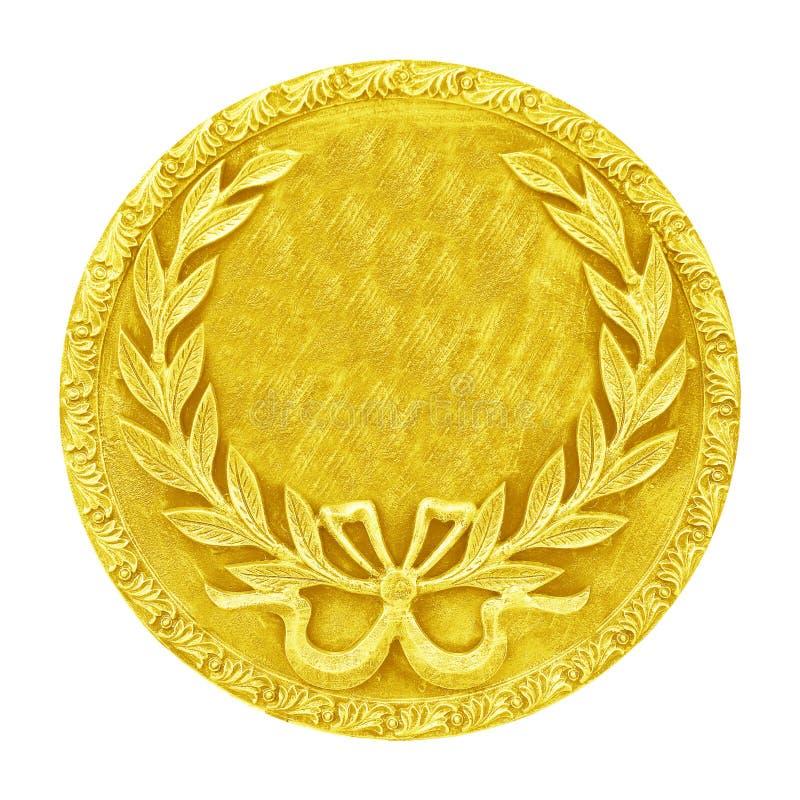 złota odosobniony medalu biel zdjęcia royalty free