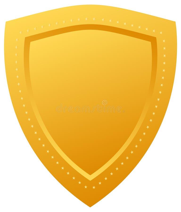 złota osłona ilustracji