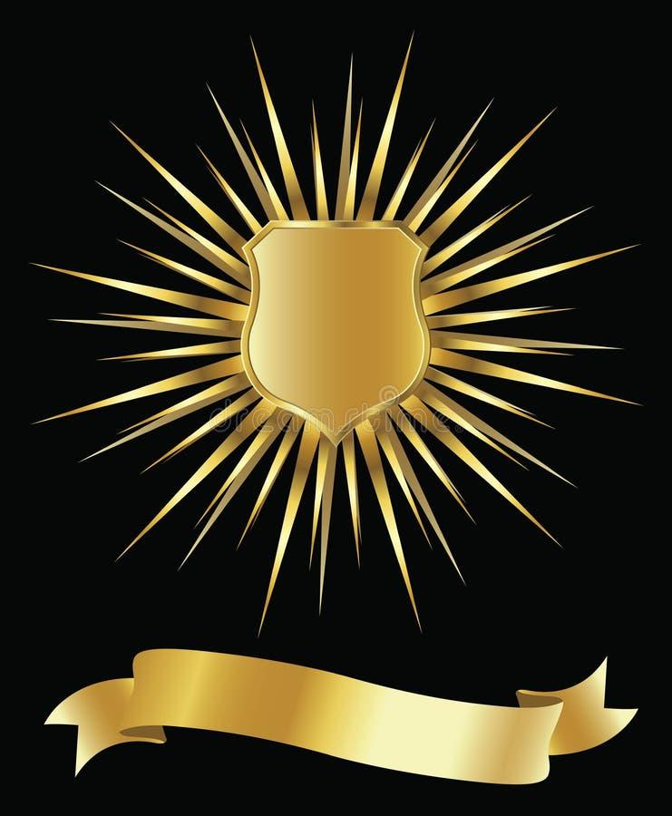 złota osłona royalty ilustracja