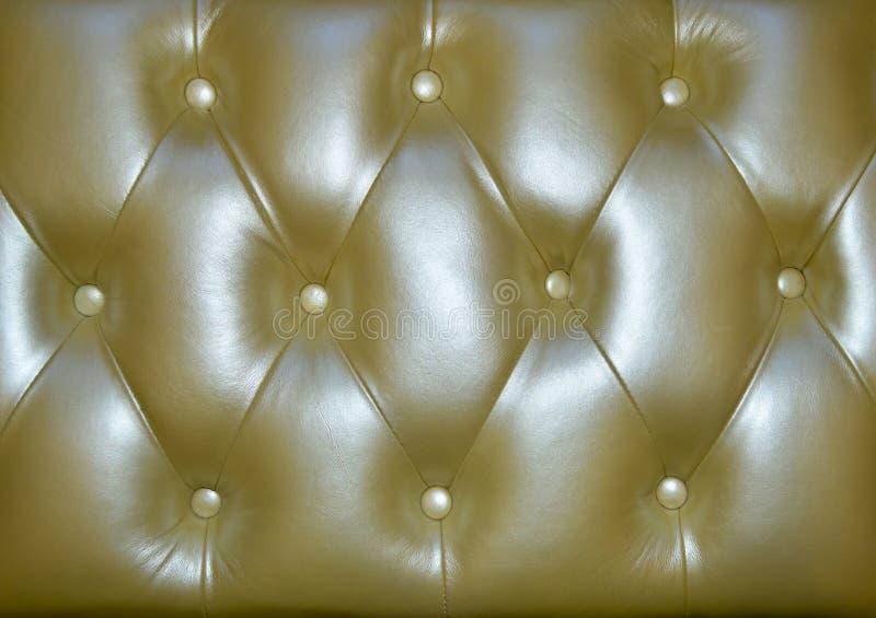 Złota piękna rzemienna tekstura jako tło obraz stock