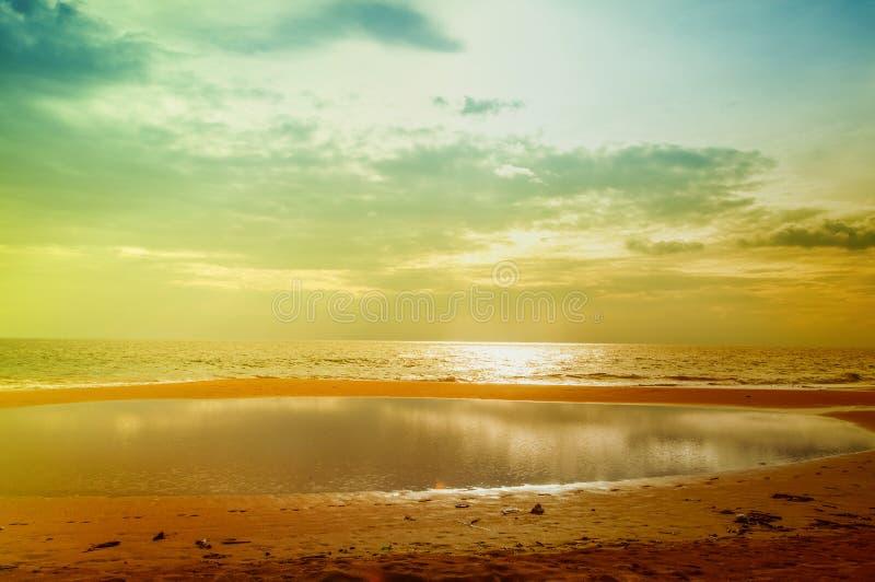 Złota plaża obrazy stock