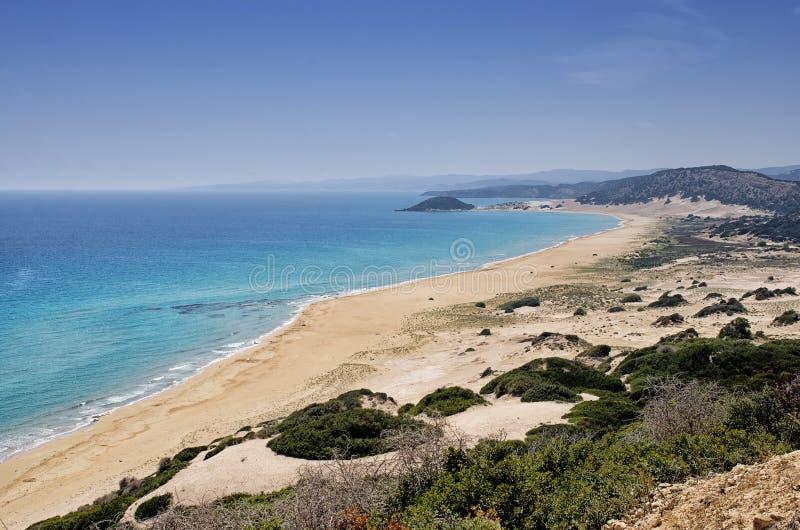 Złota plaża najlepszy plaża Cypr, Karpas półwysep, Cypr obrazy royalty free